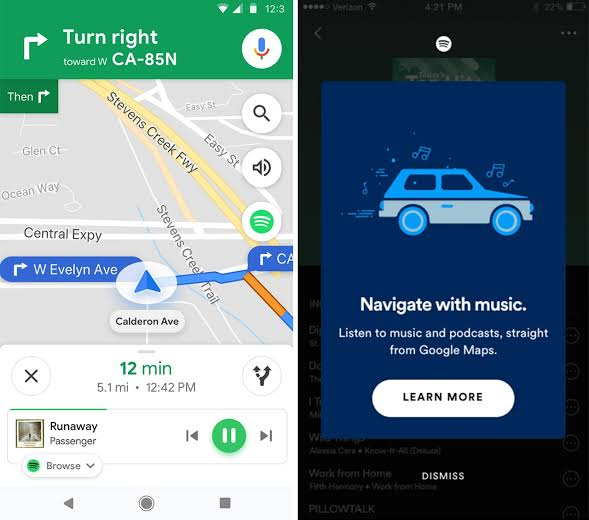 spotify google maps integration