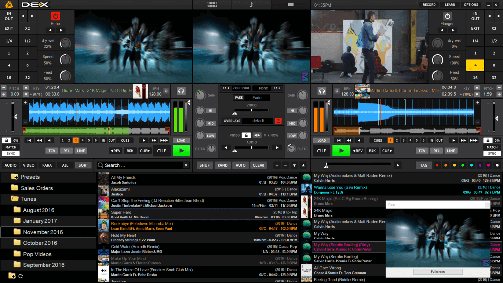 PCDJ Dex Video Mixing Software