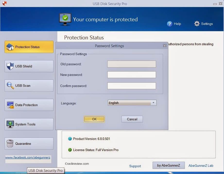 USB Disk Protection Status