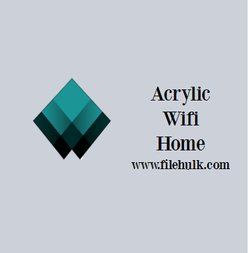 Acrylic Wifi Home