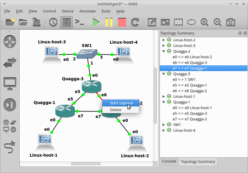 network topology gns3