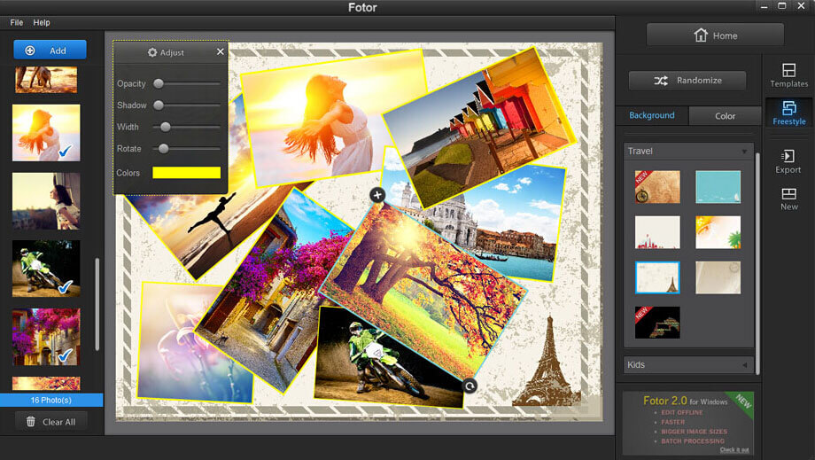 photo collage of fotor photo editor