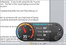 typing analysis widget