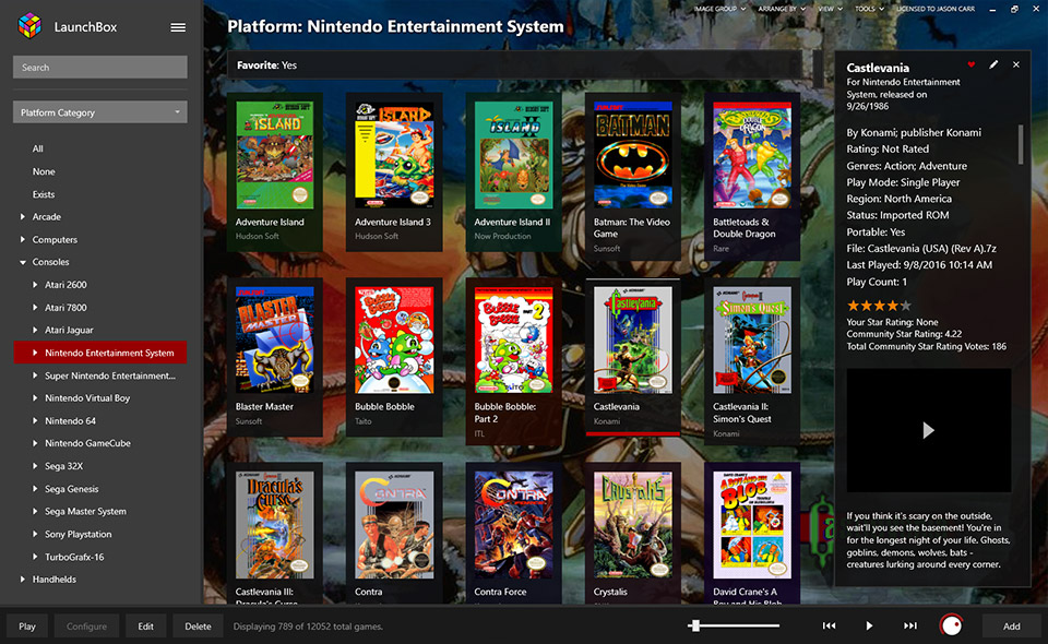 LaunchBox-Game-Launcher-Nintendo-Entertainment-System