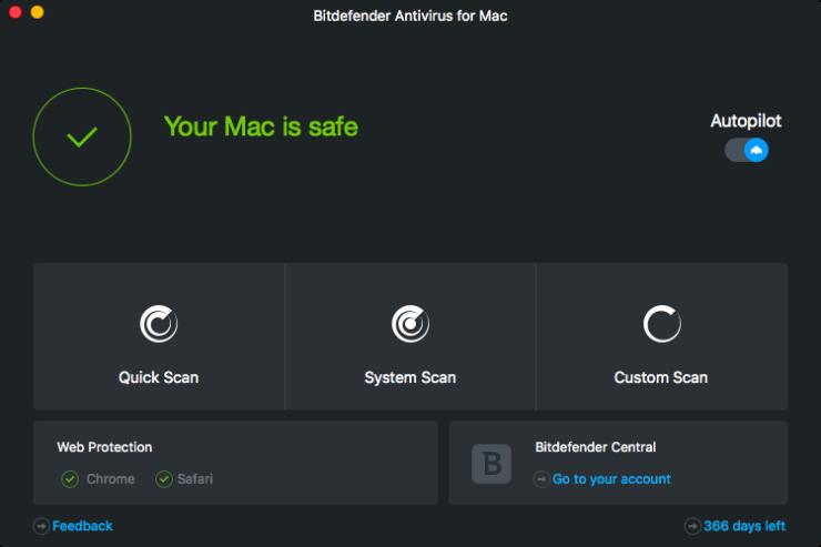 Bitdefender Software of Dashboard