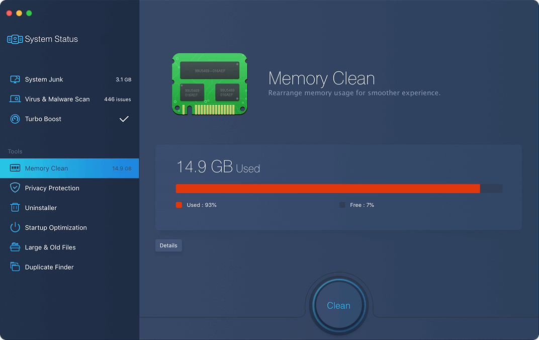 Memory Clean For System Cleaner For Mac