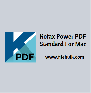 Kofax Power PDF Standard Software For Mac