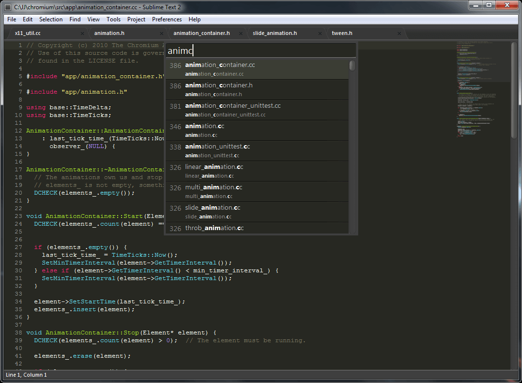 Sublime Text Software