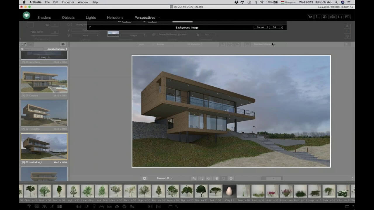 set perspectives of artlantis studio 2020 for the best 3d rendering software