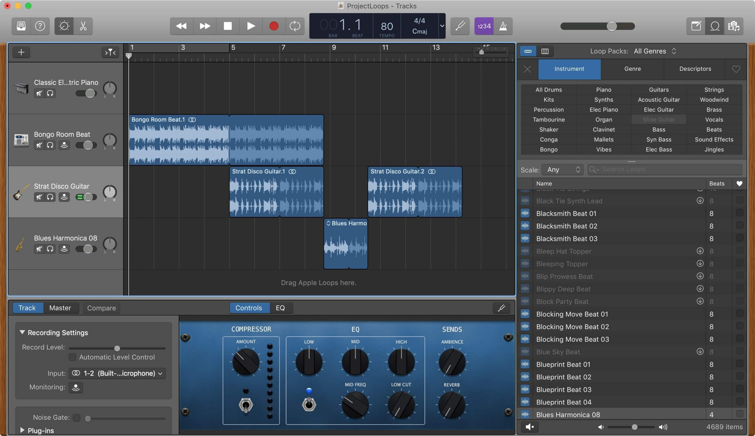 Garageband for music creation