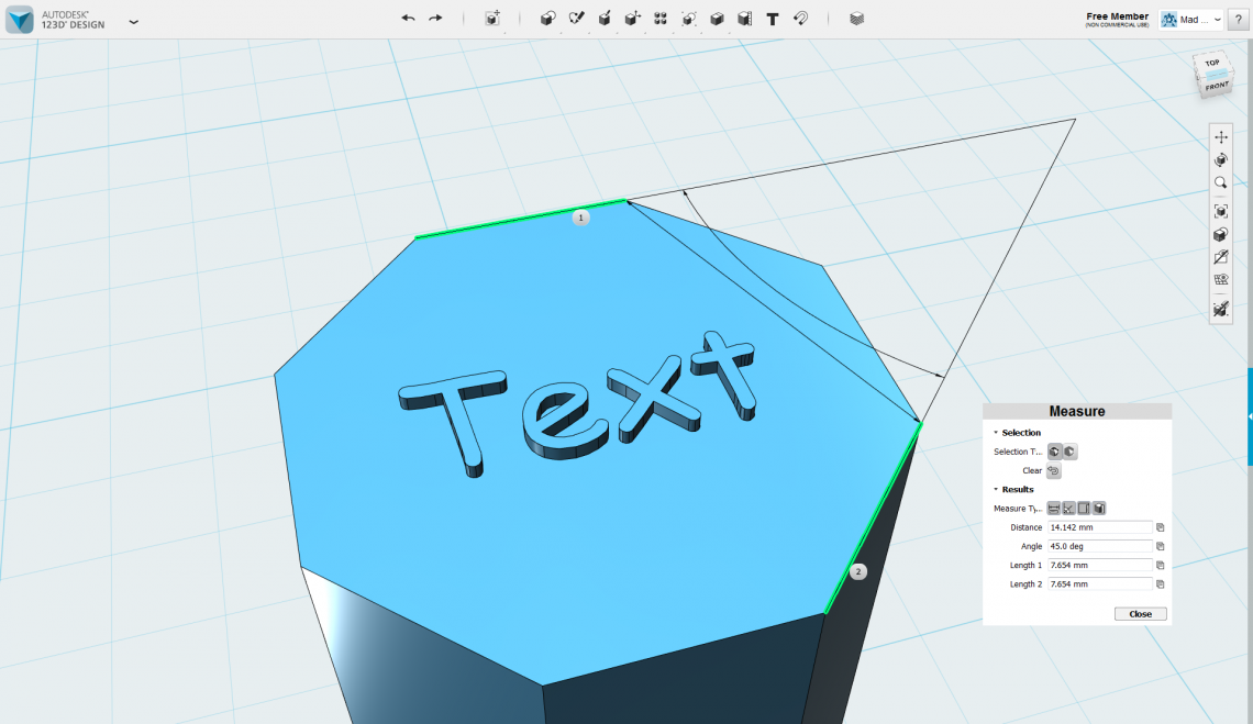 autodesk 123D Design Software To Edit Text