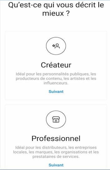 develop instagram account